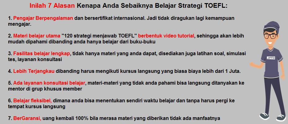 alasan belajar strategi toefl