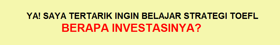 investasi strategi toefl