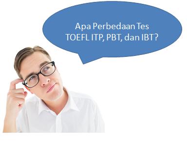 Perbedaan Tes TOEFL ITP, PBT, dan IBT