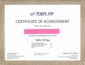 cara mendapat sertifikat toefl